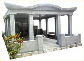 お墓の施行事例 屋根付き